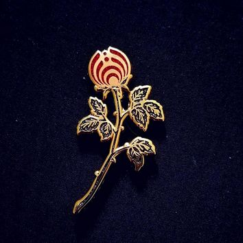 The Dark Rosebud Nectar Flower Bassnectar Hat Pin