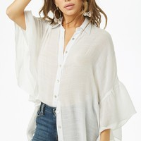 Ruffled High-Low Shirt