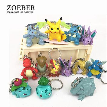 13pcs/setsTrendy Game Pokemon Keychain Cartoon