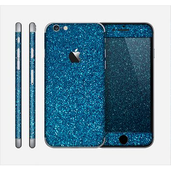 The Blue Sparkly Glitter Ultra Metallic Skin for the Apple iPhone 6