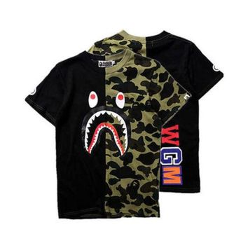 Bape Black & Green Camo Shirt