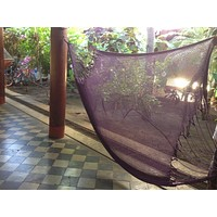 Purple Mayan Double Hammock Indoor/Outdoor Cotton Hammock - Mission Hammocks