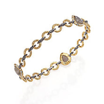 Alexis Bittar - Elements Punk Labradorite & Crystal Link Bangle Bracelet - Saks Fifth Avenue Mobile