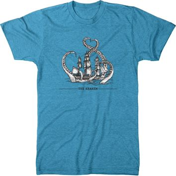 The Kraken Men's Modern Fit Tri-Blend T-Shirt