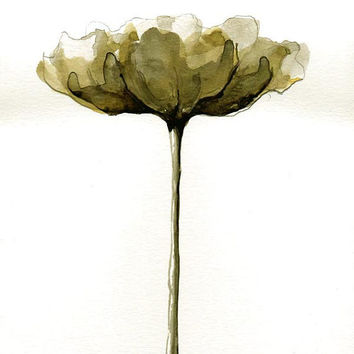 FLOWERS - Originals Drawings - Ink, charcoal, pencil and acrylic on acid free paper by Cristina Ripper