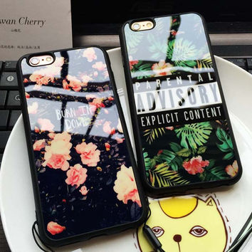 Luxury Floral Beautiful Flowers Girls Silicon TPU Soft Back Cover Case For iPhone 6 6S Plus 5S SE Cell Phone Cases Fundas Coque