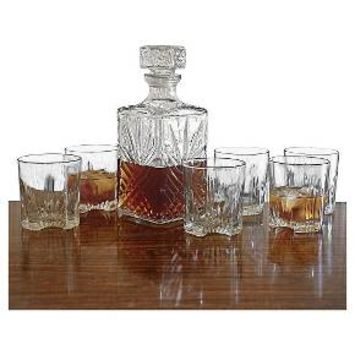 Bormioli Rocco Selecta Whiskey Decanter & Glass Set - 7pc : Target