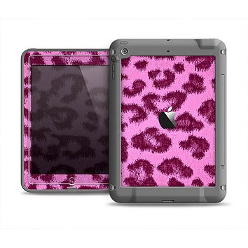 The Neon Pink Cheetah Animal Print Apple iPad Mini LifeProof Fre Case Skin Set