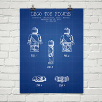 1979 Lego Toy Figure Patent Wall Art Poster, Home Decor, Gift Idea