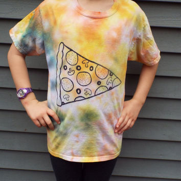 Kids Pizza Shirt, Youth L, Pizza Lovers Gift, Kids Pizza Tshirt, Tween Boy Gift, Tween Tie Dye, Teen Boy Gift, Gifts for Boys, Pizza Party