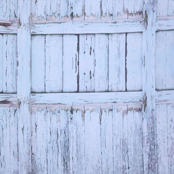 RUSTIC PEELING PAINT WOOD W/ BLUE TINT PRINTED  Platinum Cloth Backdrop - 8x10 - LCPC03PCSL196 - LAST CALL