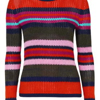Modern Stitchy Stripe Top - Sweaters & Knits - Clothing