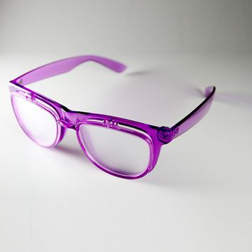 PrismFlipz Diffraction Rave Nerd Glasses - Purple