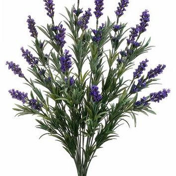 "Artificial Lavender Bush in Purple - 24"" Tall"