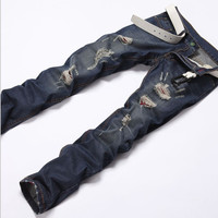 Summer Stylish Men's Fashion Slim Men Pants Jeans [6528533443]
