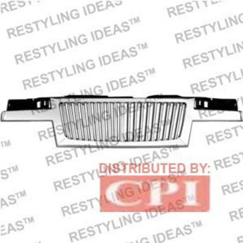 Chevrolet 2004-2008 Chevrolet Colorado Chrome Vertical Narrow Bar Abs Grille Performance