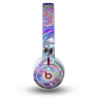 The Abstract Colorful Oil Paint Splatter Strokes Skin for the Beats by Dre Mixr Headphones