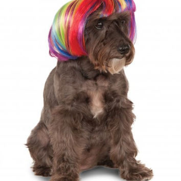 Rainbow Dog Pet Wig