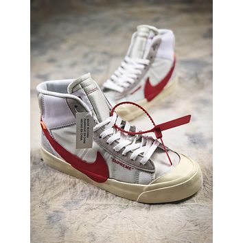 Supreme X Nike Blazer Mid Sup Red Aa3832-00614 Sport Shoes
