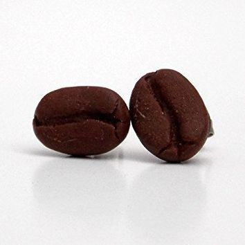 SCENTED or Unscented Coffee Bean Stud Earrings for Mom Jewelry with Hypoallergenic posts for Sensitive Ears Great Mother's Day Gift for Coffee Lover
