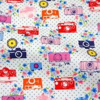 Lecien Fabric Pretty Camera and Roses C2