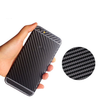 fashion 3D Carbon Fiber Full Body Back Film Sticker Case Cover Wrap Skin For Apple iPhone 5 5s 6 6s 6 plus