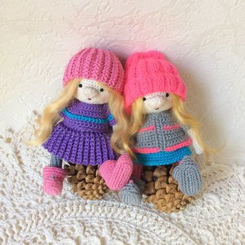 Little gnomes Crochet doll toys gift for kids Amigurumi Handmade doll doll for gift gift for daughter