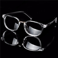 Transparent Eyeglass Frame Full Rim Clear Glasses Retro Spectacles
