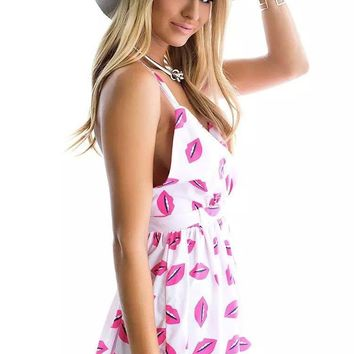 Hipster Pink Lips Romper