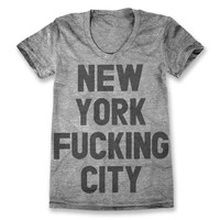 New York F***ing City Tee - Grey