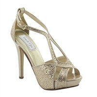 Tiara by Touch Ups Champagne Platform Sandal | Prom Shoes | Homecoming Shoes | Bridal Shoes | GownGarden.com