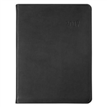 2017 Desk Diary  Traditional Leather | black