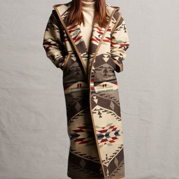 Reversible Spirit of The Peoples Long Coat, Pendleton® Fabric Wool Coats