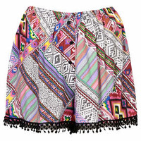 AZTEC PRINT SHORTS BY BAND OF GYPSIES