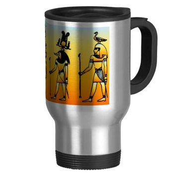 Egyptian 15 Oz Stainless Steel Travel Mug