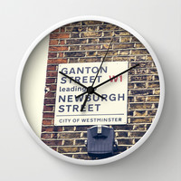 London street sign Wall Clock by Architect´s Eye | Society6