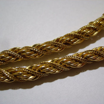 WINARD 12K BRACELET Gold Filled Rope Choker Necklace