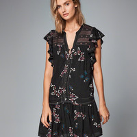 Womens Pintuck Ruffle-Sleeve Peasant Dress | Womens Dresses & Rompers | Abercrombie.com
