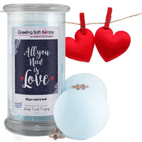 All you need is love! Greeting Bath Bombs - Jewelry Bath Bombs With Greetings