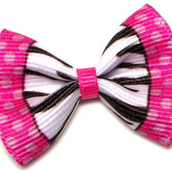 Dog hair accessories, dog bows, Barbie Zebra and pink
