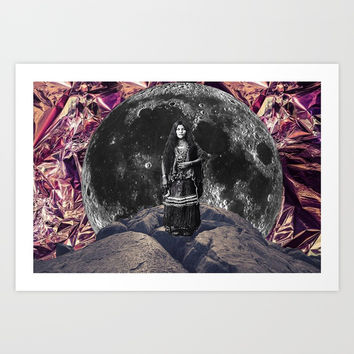 MOON QUEEN Art Print by Amel Djafer