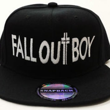 FALL OUT BOY BLACK SNAPBACK CAP HAT