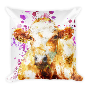 Cow Decorative Throw Pillow 18x18