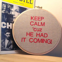 Broadway Musical CHICAGO: Keep Calm 'cuz He Had It Coming!