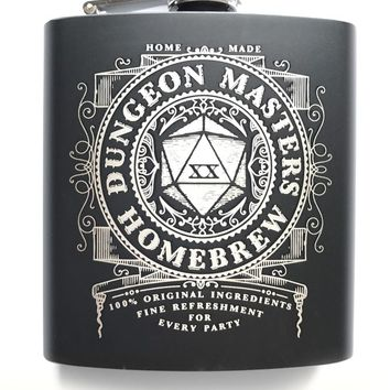 Dungeon Master's Homebrew - Gaming Hipflask