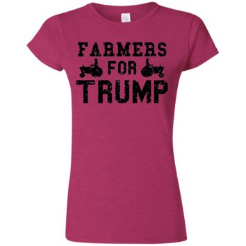 Farmers for Trump Softstyle Ladies' T-Shirt