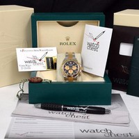 Rolex Cosmograph Daytona Gold Steel Black Dial Paul Newman 116523 - WATCH CHEST