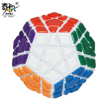 QUNJIA QJ Megaminx with Plastic Tile Cube White OR PVC Sticker Puzzle Speed Classic Toy Learning Education