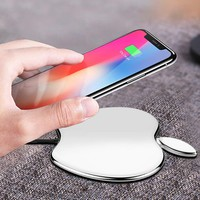 Wireless Charger,Chuanghuike Induction Charger Charging Pad 7.5W for iPhone X/8/8 Plus, 10W Fast Wireless Charging for Samsung Galaxy S9/S9 Plus/S8/Note 8/5/S7, for All Qi enabled Phones(No AC Adapte)