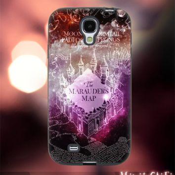 MC249Y,24,Galaxy,Nebula,Harry Potter,Marauders-Accessories case cellphone-Design for Samsung Galaxy S5 - Black case - Material Soft Rubber